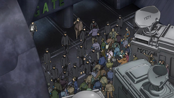 Кадр 3 аниме Мобильный воин Гандам: Происхождение — Прибытие Красной кометы