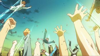 Кадр 2 аниме Гуррен-Лаганн: Звёздный свет