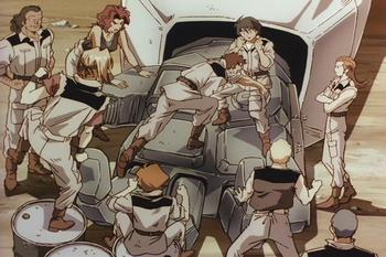 Кадр 3 аниме Мобильный воин Гандам: Восьмой взвод МС
