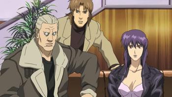 Кадр 1 аниме Призрак в доспехах: Синдром одиночки — Смеющийся человек